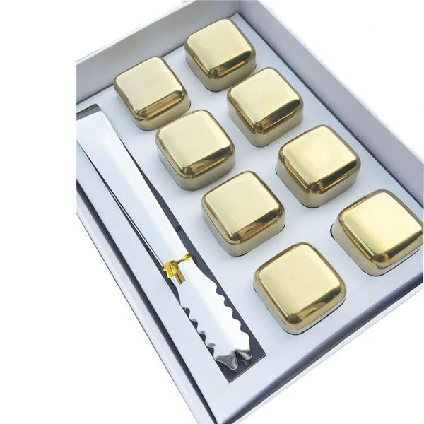 Stainless Steel Gold Edition Whiskey Stones