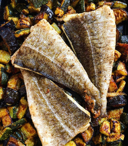 Lerato's Moroccan Spiced vegetable & Fish Roast