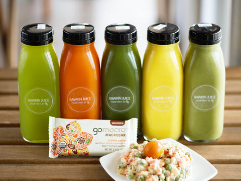 Bass Clense<br>3 Juices, 2 Smoothies<br>1 Salad, 1 Snack
