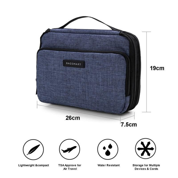 3-Layer Travel Electronic Cable Organizer Bag