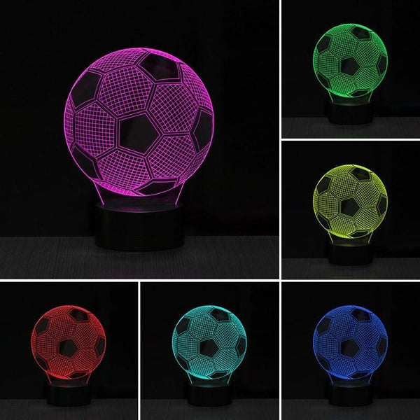 3D LED Night Light Soccer Ball Shape Sensitive Touch