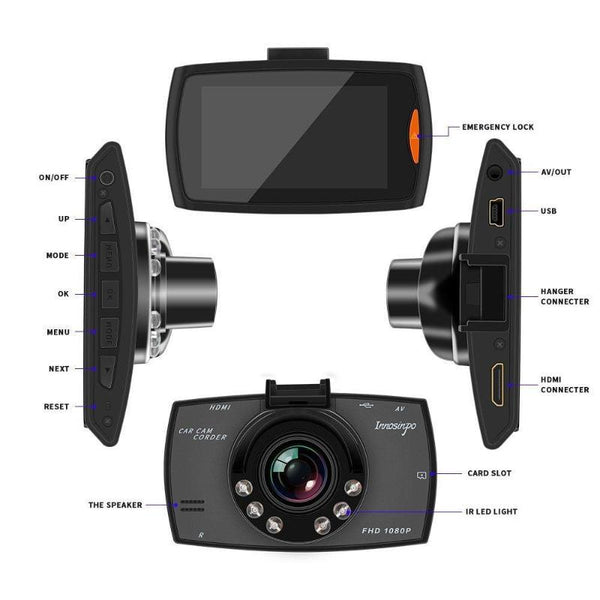 Car DVR Camera Full HD Wide Angle Dual Lens-Oberlo-forgift.online