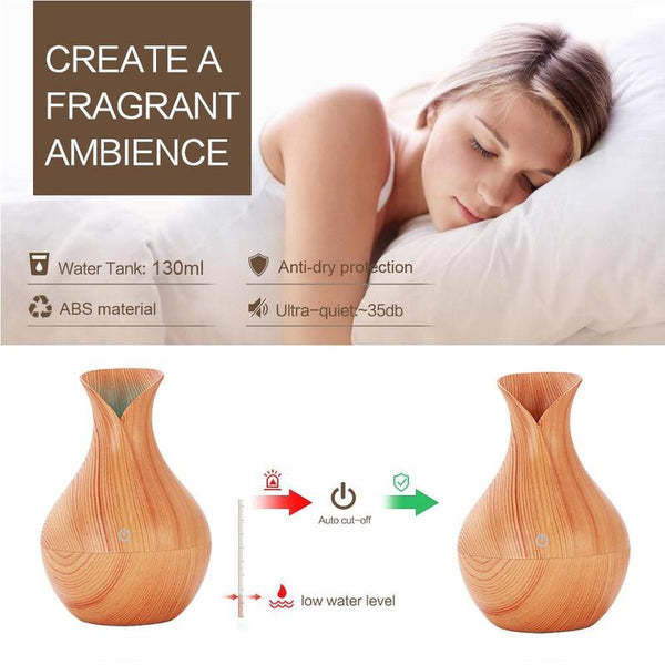 Electric Humidifier Aroma Oil Ultrasonic Diffuser