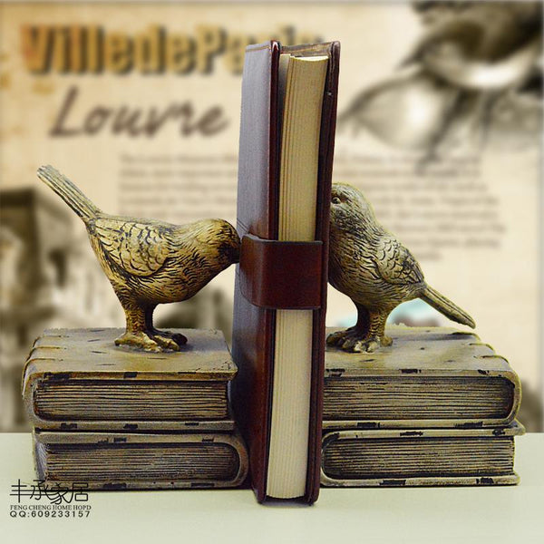 Elegant Bookend | Vintage Birds-Oberlo-forgift.online