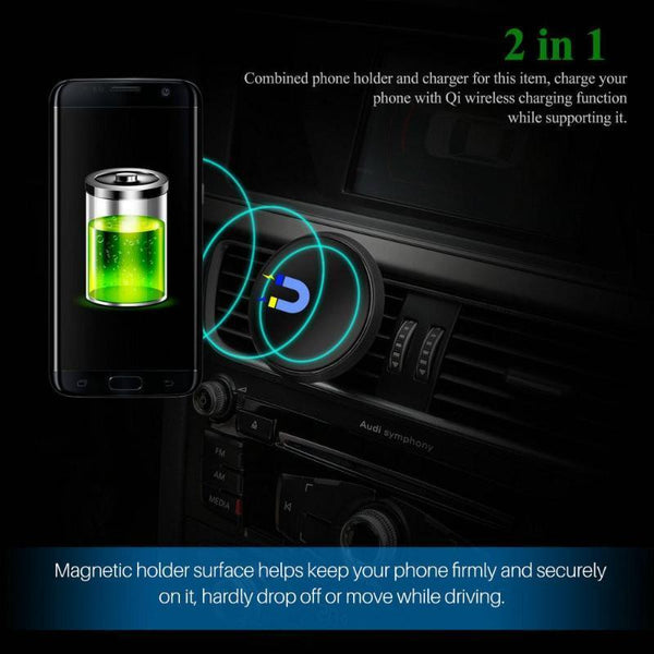 Car Phone Wireless Magnetic Holder/Charger-Powstro-forgift.online