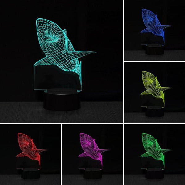 Shark Shape 3D LED Light