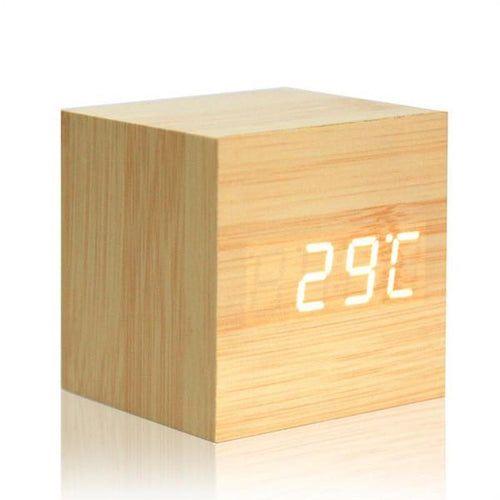 Wooden Digital Desk Clock