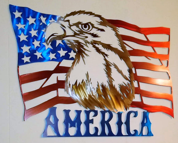 America Flag with Eagle