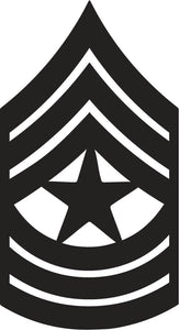 Army Sergeant Major Emblem