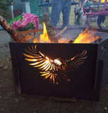 Military 6 panel Fire Pit
