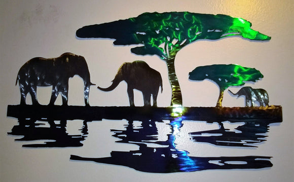 Elephants Safari art