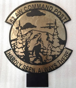 62 AW Command Post - Hardly Seen, Always There Plaque