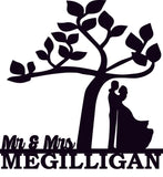 Mr. & Mrs. Tree Sign
