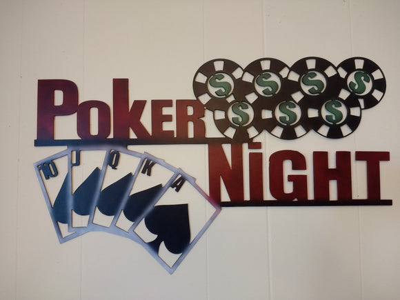 Poker Night sign