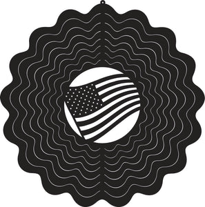 US Flag Wind Spinner