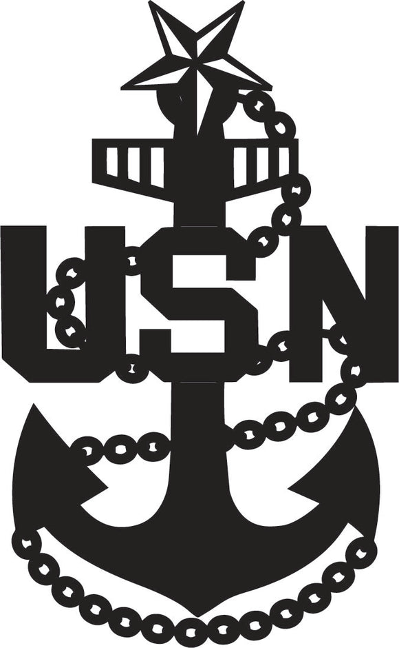 USN Senior Chief Navy Anchor