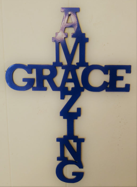 Amazing Grace words in cross