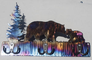 Bear Scene Key Chain Holder