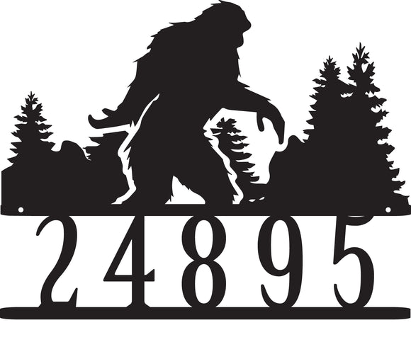 Big Foot Address Sign