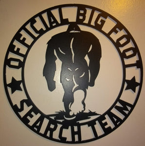 Official Big Foot Search Team sign