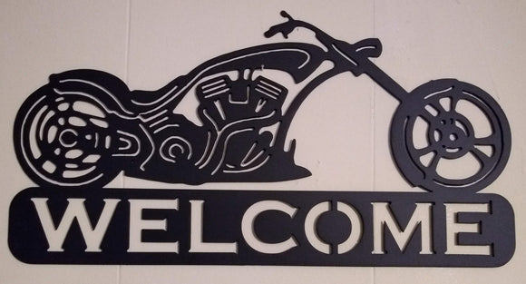 Biker Welcome Sign 2