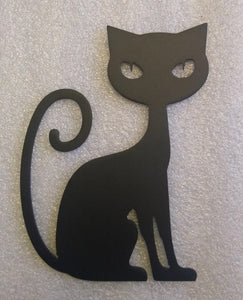 Cat with Curly Tail metal art
