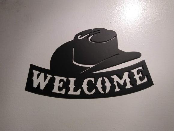 Cowboy Hat Welcome Sign