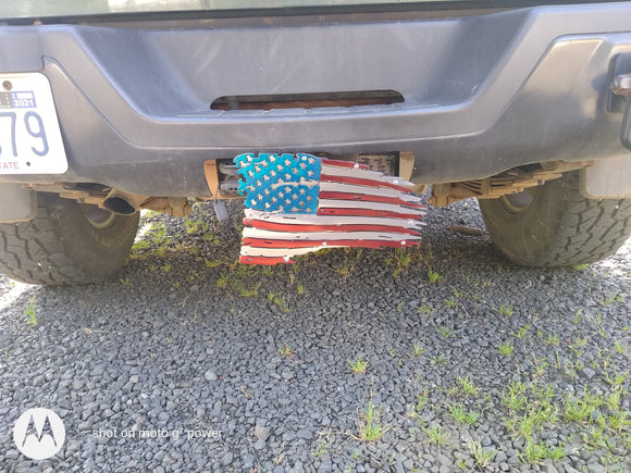 Tattered Flag Hitch Cover