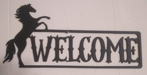 Horse Rearing Welcome Sign