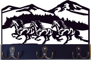 Horses Running Keychain Holder