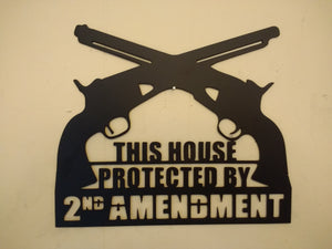 This House Protected by 2nd Amendment sign