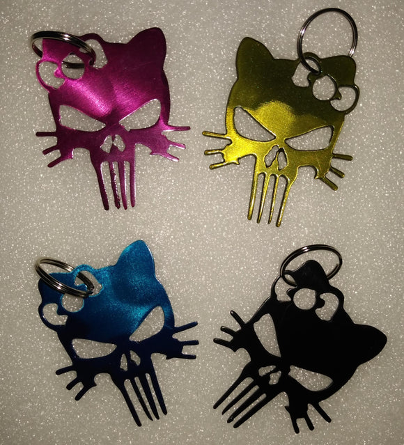 Punisher Kitty keychain