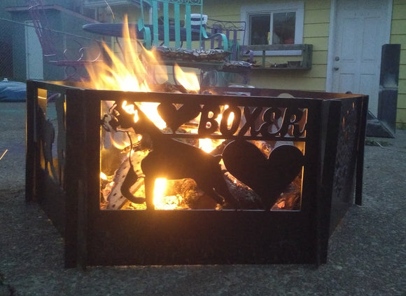 Boxer Love Fire Pit Single Panel