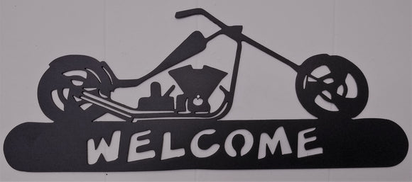 Biker Welcome Sign