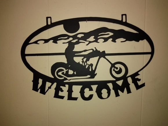 Biker Welcome Sign 3