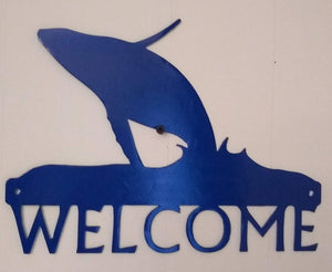 Humpback Whale Welcome sign