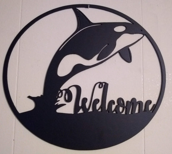 Orca Welcome Sign