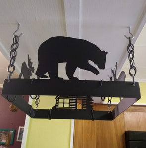 Forest themed Pot & Pan Hanger