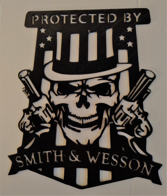 Protected by Smith & Wesson Skull