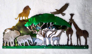 African Safari 3D Art Piece