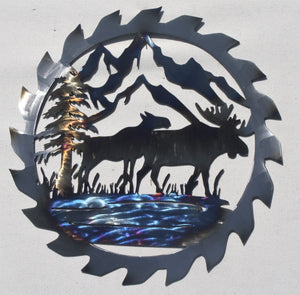Saw Blade Moose artwork