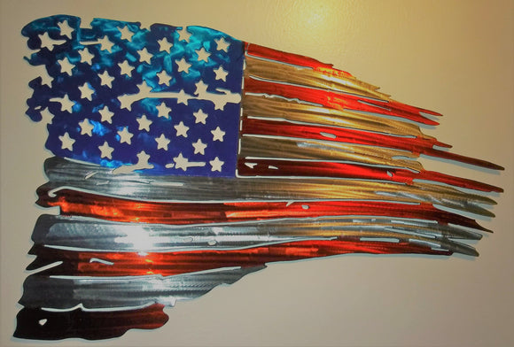 United States of America Tattered Flag