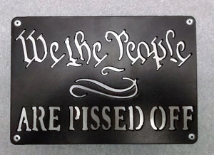 We The People Are Pissed Off Hitch Cover