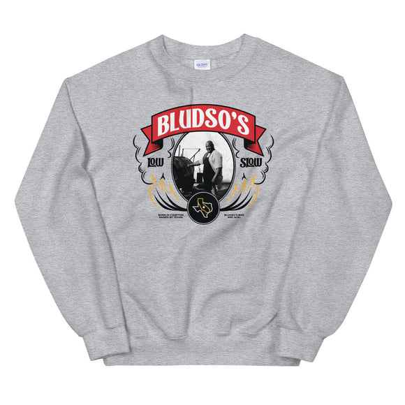 Kevin Bludso Low & Slow Portrait Sweatshirt - Heather Grey