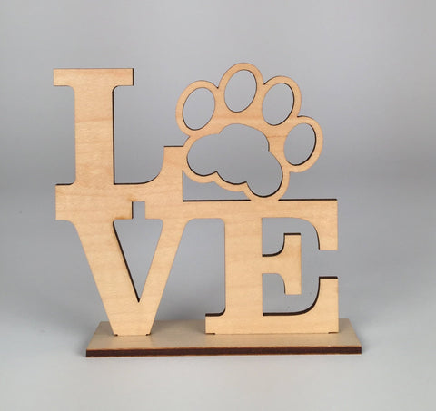 Love Sign - Paw Print