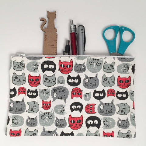 Cat - Pencil Cases - Cat Heads