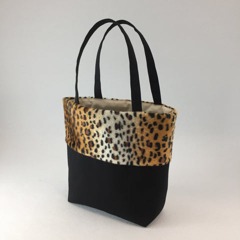 Cat - Tote Bag - Leopard and Denim