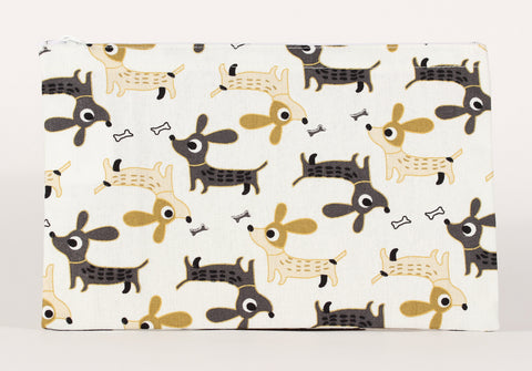 Dog - Pencil Cases - Cream Walking Dogs