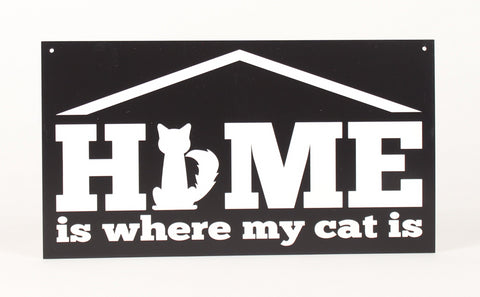 CAT Sign - Home is where