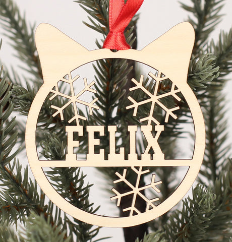 Cat - Ornaments - Custom Name